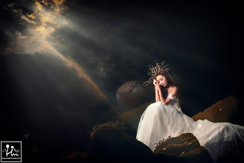 溪流女神婚紗